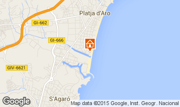 Map Playa d'Aro One-room apartment 93350