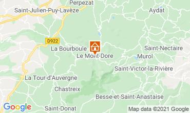 Map Le Mont Dore Apartment 77814