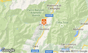 Map Pinzolo One-room apartment 40038