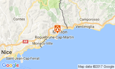Map Roquebrune Cap Martin Apartment 107713
