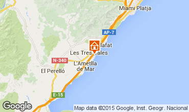 Map La Ametlla de Mar Villa 9664