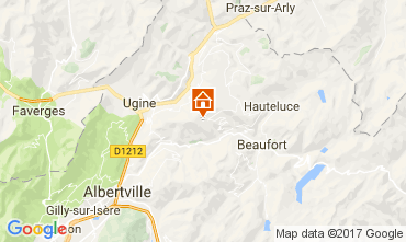 Map Les Saisies Apartment 111751
