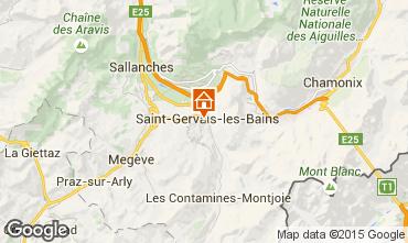 Map Saint Gervais Mont-Blanc Apartment 90703