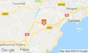 Map Fréjus Vacation rental 117173