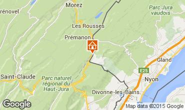 Map Les Rousses Apartment 74697