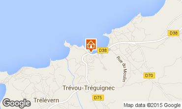 Map Perros-Guirec Vacation rental 83929
