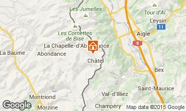 Map Châtel Chalet 58875