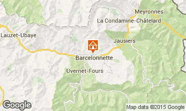 Map Barcelonnette Apartment 4855