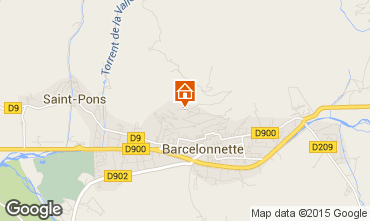 Map Barcelonnette Apartment 4855