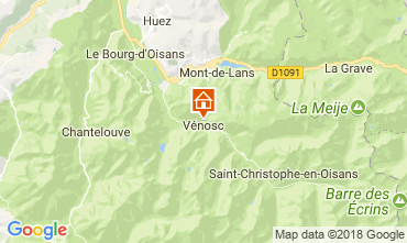 Map Les 2 Alpes Apartment 59663