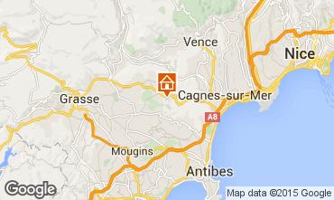 Map Roquefort-les-Pins Vacation rental 83734