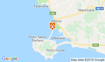 Map Monte Argentario Apartment 109925