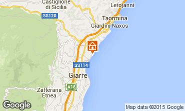 Map Fiumefreddo di Sicilia Apartment 81186
