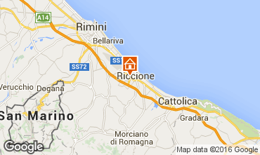 Map Riccione Apartment 40072