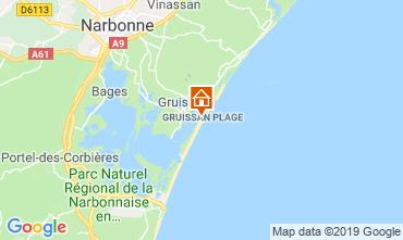 Map Gruissan-Plage Chalet 102261