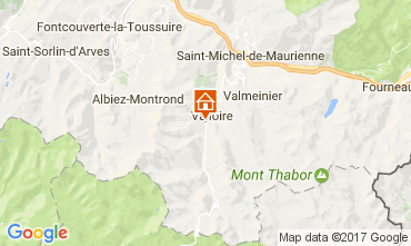 Map Valloire Vacation rental 108351