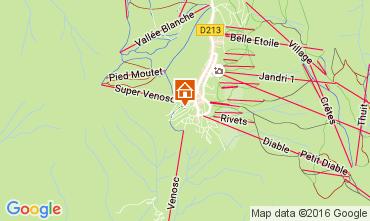 Map Les 2 Alpes Apartment 28328