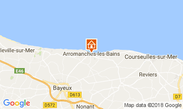 Map Arromanches Vacation rental 113148