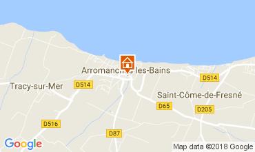 Map Arromanches Vacation rental 113148
