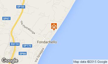 Map Fondachello di Mascali Villa 90251