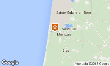 Map Mimizan Villa 6532