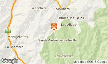 Map Saint Martin de Belleville Chalet 98698
