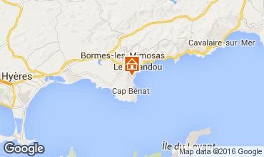 Map Bormes Les Mimosas Apartment 102267
