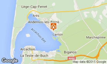 Map Andernos les Bains Vacation rental 80951
