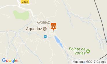 Map Avoriaz One-room apartment 112505
