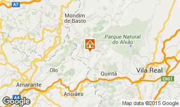 Map Mondim de Basto Vacation rental 84160