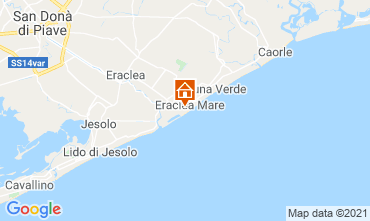 Map Eraclea Mare One-room apartment 97384