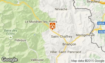 Map Serre Chevalier Chalet 15369