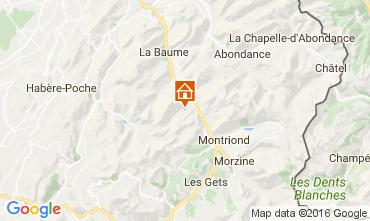Map Saint Jean d'Aulps- La Grande Terche Apartment 17374