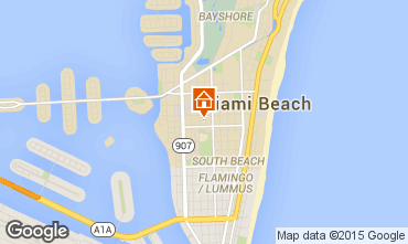 Map Miami Beach Apartment 5336