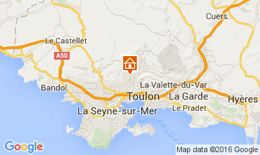 Map Toulon Vacation rental 79569