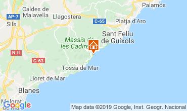 Map Tossa de Mar Apartment 112430
