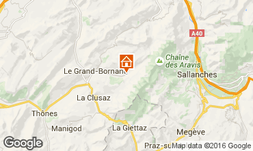 Map Le Grand Bornand Chalet 66538