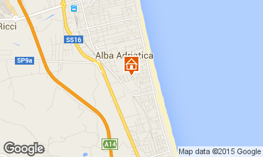 Map Alba Adriatica Apartment 64221