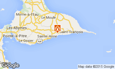 Map Sainte Anne (Guadeloupe) Vacation rental 60311