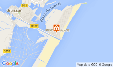 Map Gruissan-Plage Chalet 105028