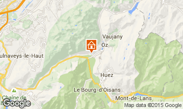 Map Alpe d'Huez Apartment 65901