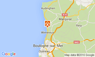 Map Wimereux Apartment 8918