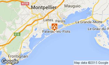 Map Palavas-les-Flots One-room apartment 71266