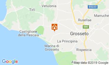 Map Castiglione della Pescaia Apartment 94322