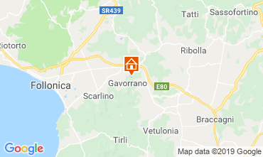 Map Gavorrano Vacation rental 80622