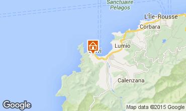 Map Calvi Apartment 42686