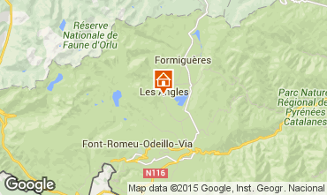 Map Les Angles Chalet 58083