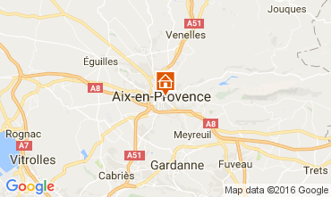 Map Aix en Provence Apartment 88090