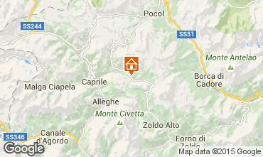 Map Civetta Apartment 61306