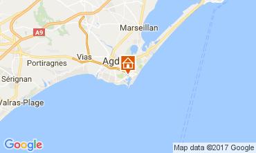 Map Cap d'Agde One-room apartment 108561